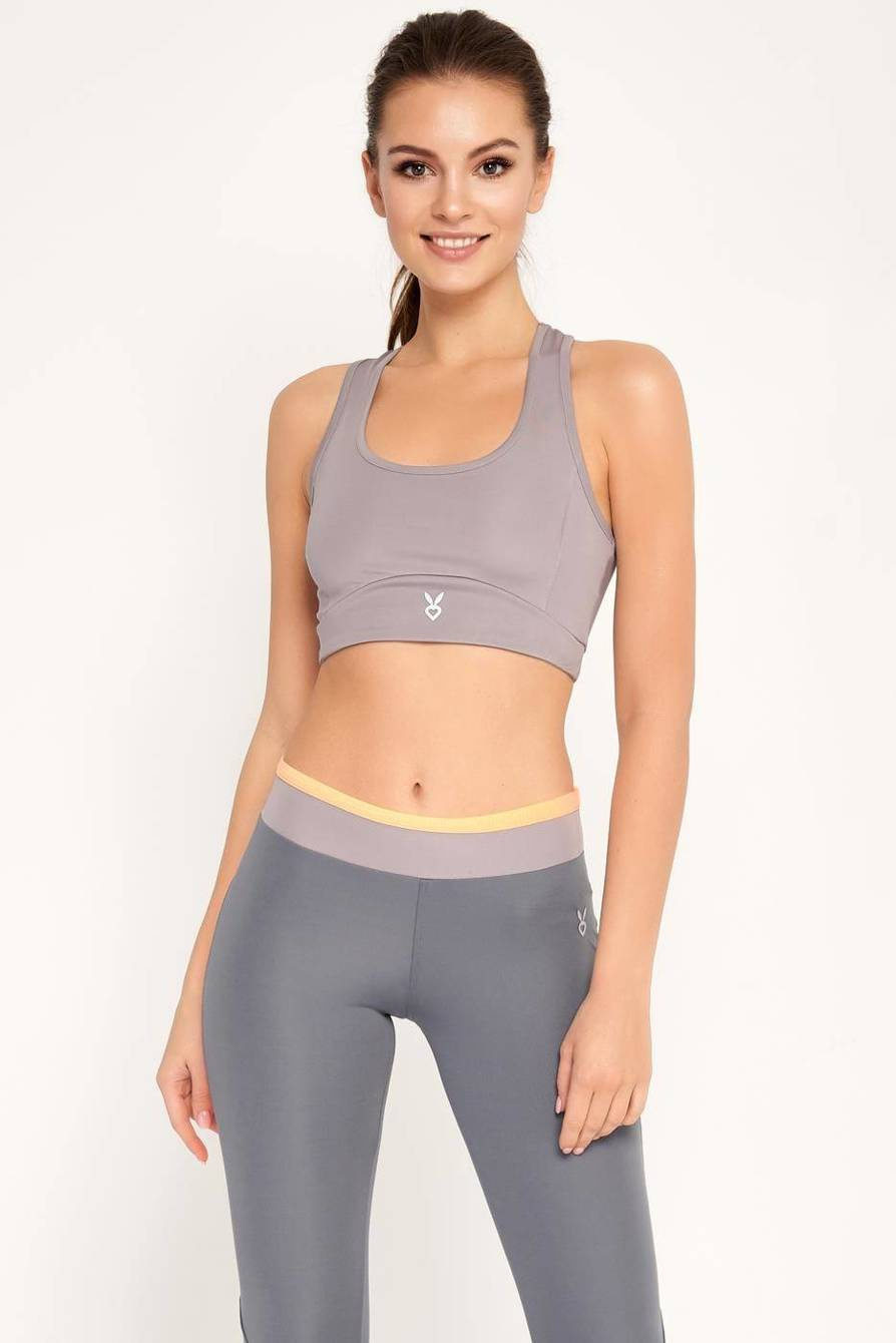 Sylvia crop-top grey