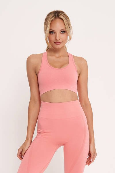 FIRE CROP-TOP PEACH