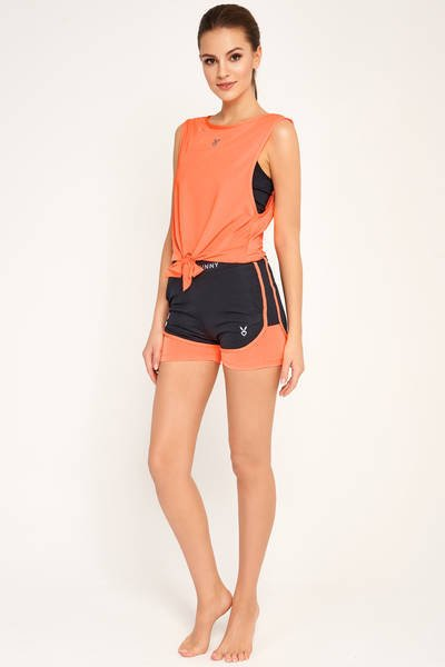 SARAH SHORTS NAVY BLUE/ORANGE