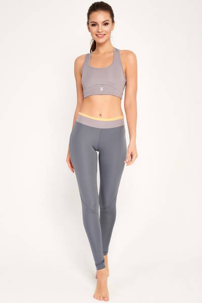 Zoey leggings grey/orange